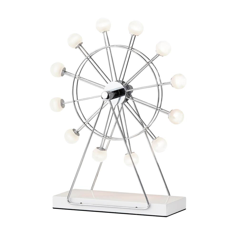 Adesso Coney Small LED Ferris Wheel Lamp