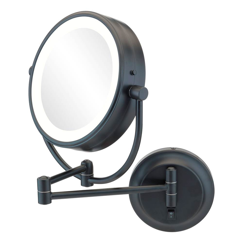 Aptations Neomodern Magnified Makeup Mirror With Switchable Light Color in Chrome