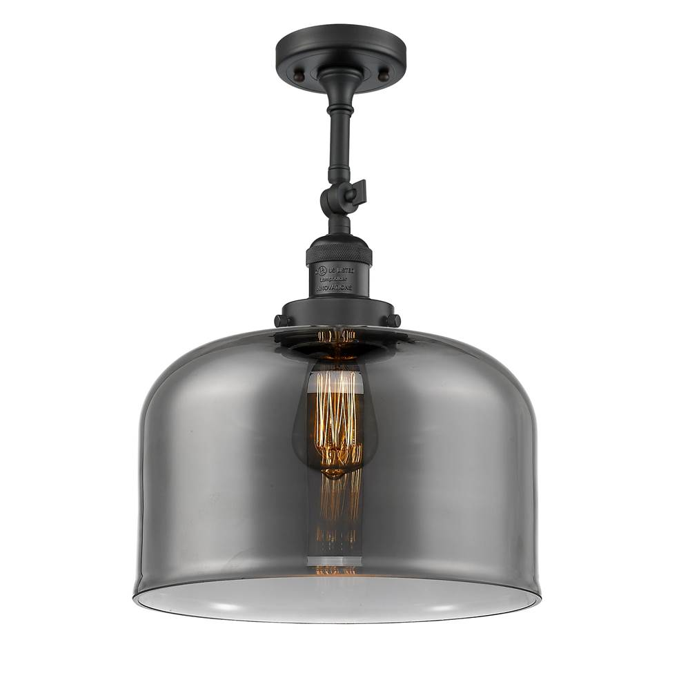Innovations X-Large Bell 1 Light Semi-Flush Mount part of the Franklin Restoration Collection