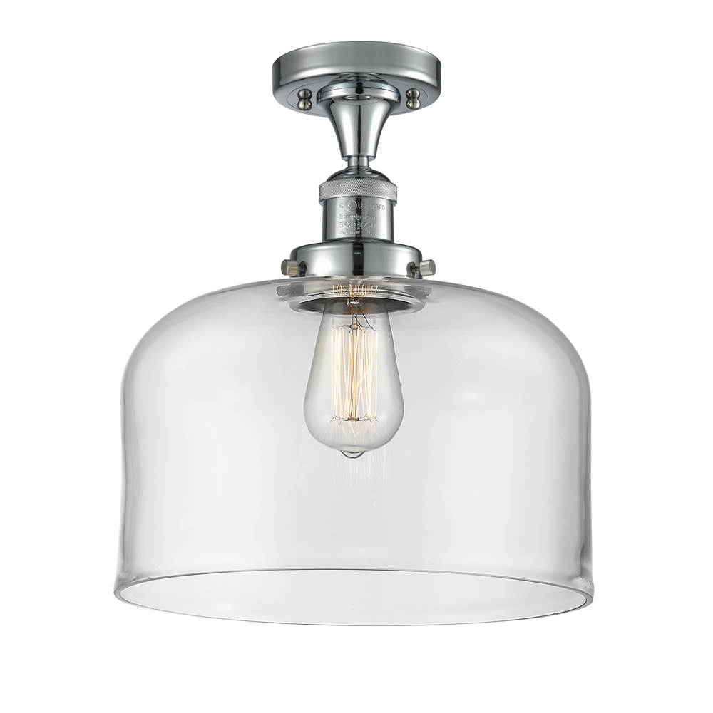 Innovations X-Large Bell 1 Light Semi-Flush Mount