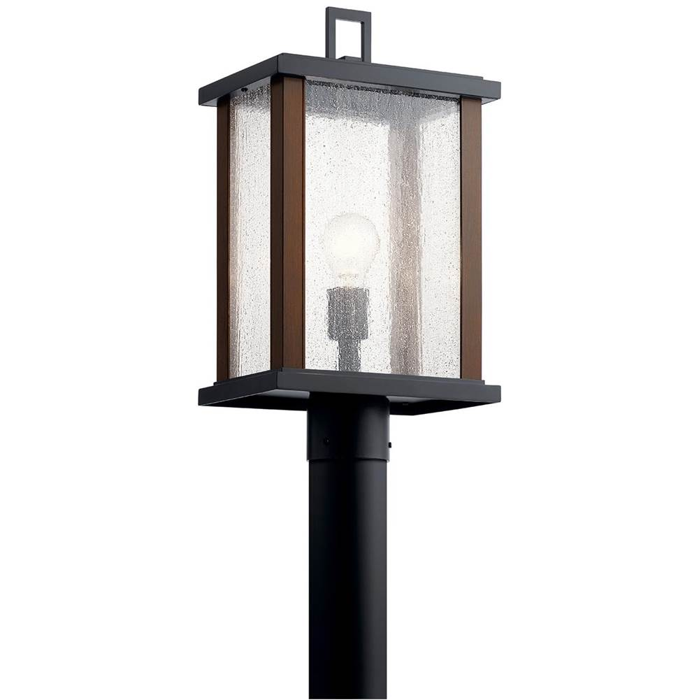 Kichler Lighting Marimount 18.25'' 1 Light Outdoor Post Light with Clear Glass in Black